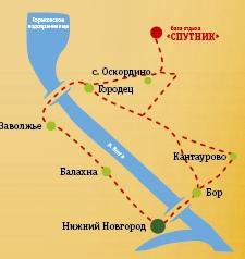 Схема проезда в городец